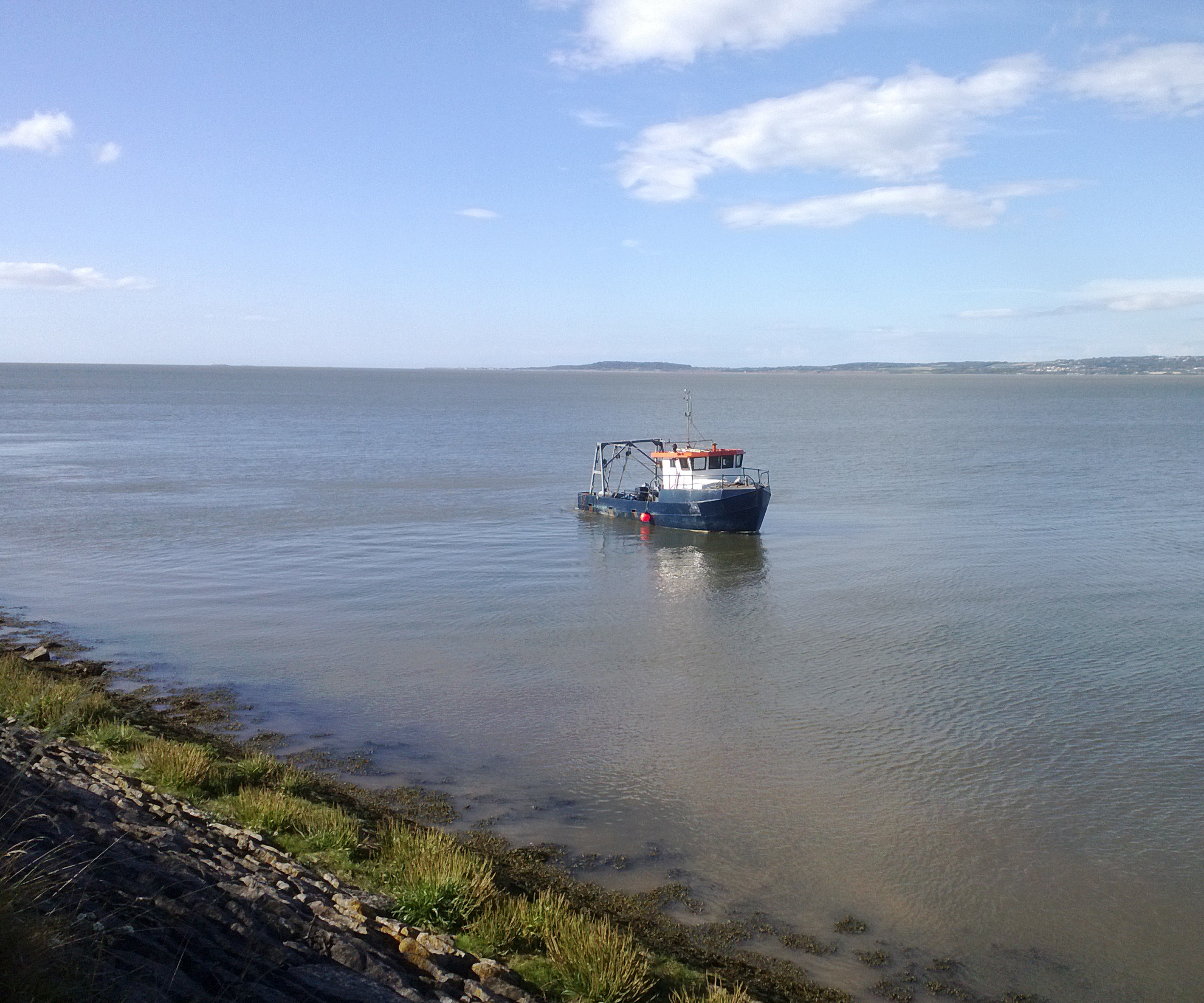 Janey navigating the Dee estuary